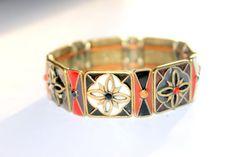 Vintage 1960s Enamel and Pave Rhinestone by AntiqueAlchemists, $25.00