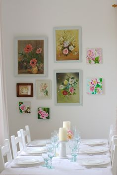 Dining Corner, Creating a Floral Wall - @ cherry menlove