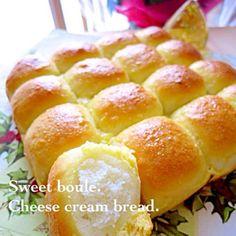 余ったクリームチーズでスイートブールのちぎりパン*:゚*。⋆ฺ(*´◡`)ノ しっとりふわ〜ん♡おいちっ♡ でもチーズクリームにL玉の卵を使ったので、柔らかくなっちゃって線が流れた…次回はM玉でリベンジしなきゃ! - 345件のもぐもぐ - チーズクリームスイートブールのちぎりパン by ゆりえ