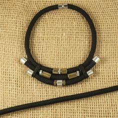 x1 mètre - corde tressée noir - 9mm - corde d'escalade noir pour bijoux : Fils, cordons pour bijoux par supports-apprets