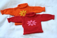 Summary:  Basic baby pullover, with directions for embellishing with a heart using textured seed stitch or color using the intarsia method.