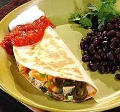 Fresh herbs and pickled jalapenos brighten up these simple yet spicy chicken quesadillas. Serve with a tossed green salad and a side of black beans to round out the meal. Spicy Recipes, Mexican Food Recipes, Chicken Recipes, Healthy Recipes, Dinner Recipes, Mexican Cooking, Chicken Ideas, Turkey Recipes, Yummy Recipes