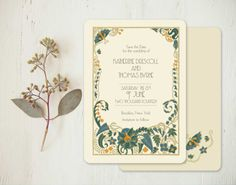 Vintage Wedding Invitations Save the Dates   Jade by GoGoSnap