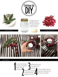 Cranberry Christmas Jar DIY