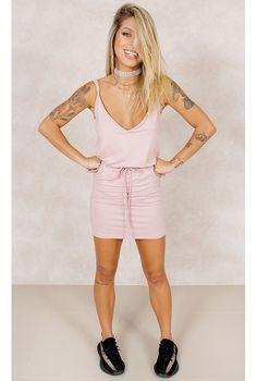 Vestido Mi Love Rosa Fashion Closet - fashioncloset