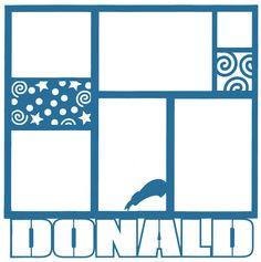 Theme Park: Donald 12 x 12 Overlay Laser Die Cut