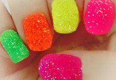 Decorated nails with sugar