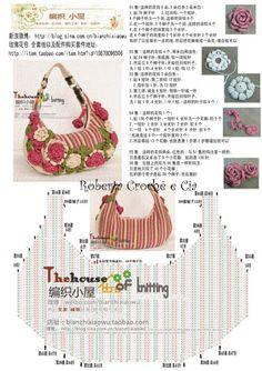 Roberta Crochê e Cia: Bolsa Maravilhosa de Crochê com Gráfico