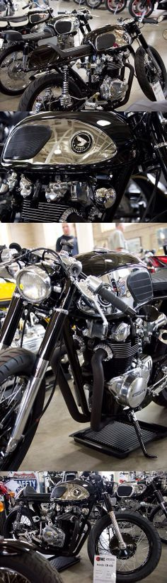 1966 Vintage Honda Black Bomber CB 450 Motorcycle cafe racer CB450