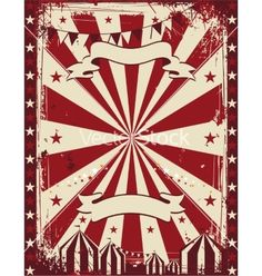 Vintage circus poster background advertising vector 3235233 - by hugolacasse on VectorStock®