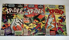 Spidey Super Stories Issues #39, #54 and #57 in Fine Condition 6.5 Marvel Comics
