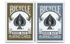 Bicycle Gold & Silver Playing Cards 2 Deck Set. #playingcards #poker #games