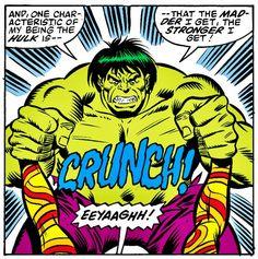 The madder Hulk gets the stronger he gets!! #hulk #ufoes #salbuscema