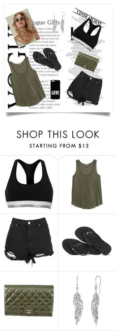 """""""Vogue Fashion for a hot day ☀️"""" by haily74 ❤ liked on Polyvore featuring Calvin Klein, H&M, Havaianas, Chanel and Givenchy"""