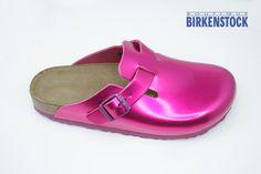 Birkenstock Boston in Metallic Pink!!!!!