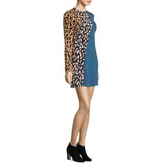 Diane von Furstenberg Bias Fitted Mini Dress (285 CAD) ❤ liked on Polyvore featuring dresses, long sleeve fitted dress, longsleeve dress, diane von furstenberg dress, fitted mini dress and long-sleeve mini dresses