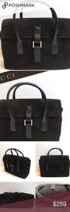 Authentic chocolate brown Gucci handbag 100% Authentic suede brown Gucci handbag. Minor signs of wear ( so slight camera didn't pick up) no major damage at all. Overall good condition. Bags