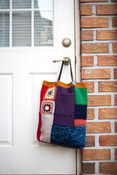 Quick Crochet Gifts, Unique Crochet, Love Crochet, Knit Crochet, Chunky Crochet, Crochet Round, Crochet Handbags, Crochet Purses, Knit Basket