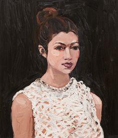 Estella    -     Laura Jones  Australian,  b, 1982-  Oil on linen, 71 x 61 cm