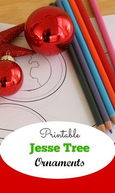 Download And Print These Jesse Tree Ornaments To Color Great For Last Minute