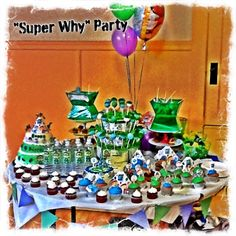 SUPER WHY Birthday Party      Ralph's nephew had his Big 1 st  Birthday Party. Christian's favorite show is Super Why so the theme was set...