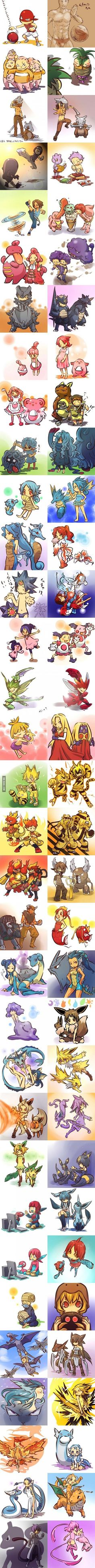 If pokemon were humans part II. Left Jotto
