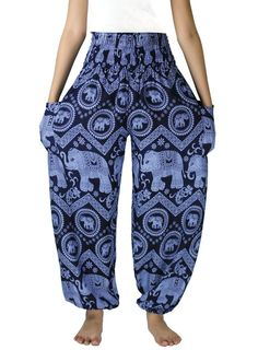Navy Elephant pants /Hippies pants /Boho pants Yoga by NaLuck
