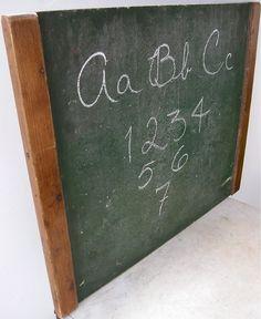 Fine Old SCHOOL BLACKBOARD Wood Trim Green Slate by onceupntym, $100.00 #teampinterest