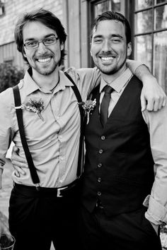 Groom rustic wedding. suspenders can be in wedding party gifts