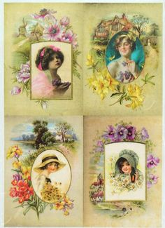 Rice Paper for Decoupage Decopatch Scrapbook Craft Sheet Vintage Flower Garden  #Decoupage