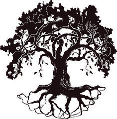 This is best Oak Tree Silhouette White Oak Tree Drawing Clipart Free Clip Art Images for your project or presentation to use for personal or commersial. Tree Branch Tattoo, Tree Roots Tattoo, Tattoo Tree, Red Oak Tree, White Oak Tree, Oak Tree Drawings, Tree Sketches, Oak Tree Silhouette, Silhouette Clip Art