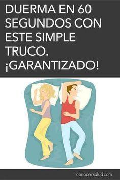 Duerma en 60 segundos con este simple truco. ¡Garantizado!