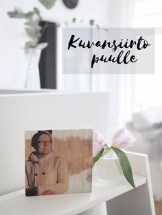 kuvansiirto puulle ohje Photo Transfer, Altered Books, Art Education, Sewing Crafts, Decoupage, Diy And Crafts, Recycling, Projects To Try, Presents