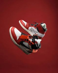 UA High quality replica off white x nike air jordan 1 Chicago original red colorway sneakers