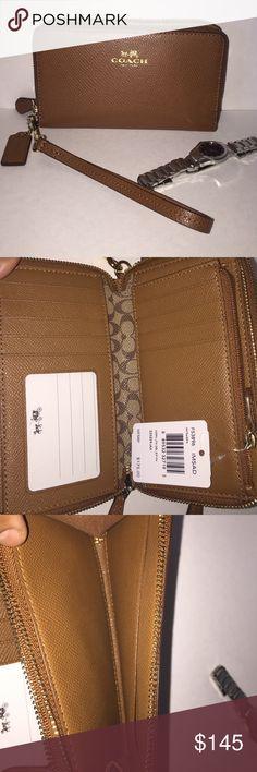 "COACH WOMEN WALLET 100% AUTENTIC COACH BRAND NEW, with box incluid, SUDDLE COLOR, 6.5""(L) 4""(H) Coach Bags Wallets"