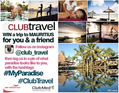 Stand a chance to win a trip for you and a friend to Mauritius. Enter NOW! Air Mauritius, Honeymoon Deals, Win A Trip, Paradise, How To Apply, Club, Travel, Instagram, Viajes