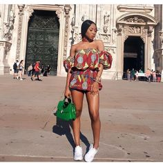 classy-ankara-styles-nigerian-wedding-off-shoulder-cold-balloon-sleeves-choker
