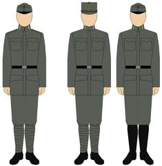 Because the 1908 Model uniforms proved ineffective in battle the German Feldgrau was introduced. Distinctions between regiments, German/Hungarian and enlisted/officers were almost completely abolished. The regulation uniform had a stand and fall collar but some officers privately purchased the old high collar. The common headgear was the Feldmütze in field.
