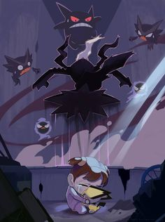 The moon once saved me by nganlamsong on DeviantArt - The moon once saved me by nganlamsong.devia… on (Gastly, Haunter, Gengar, Pichu and D - Ghost Pokemon, O Pokemon, Pokemon Comics, Pokemon Memes, Pokemon Funny, Pokemon Fan Art, Pikachu, Pokemon Stuff, Haunter Pokemon