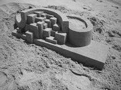 geometric sand castle by Calvin Seibert