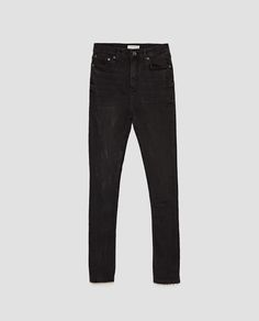 The High Waist Zara https://www.zara.com/us/en/woman/jeans/view-all/the-high-waist-in-rock-black-c733918p4625584.html jeans, bottoms, denim, black jeans, pants