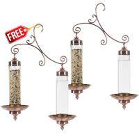 Seed Feeders, Buy 1 Get 1 FREE - Perky-Pet®  Copper Sip & Seed Bird Feeder, BB389