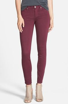 I NEED THESE! SIZE 27. WPaige Denim 'Transcend - Verdugo' Ultra Skinny Jeans (Sweet Wine) available at #Nordstrom