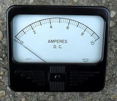 1960's Hoyt Model 647 panel ammeter by LeedsRadio on Etsy, $15.00