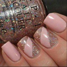 blush and gold glitter