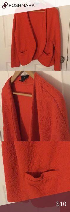 H&M Orange Blazer Casual blazer that could be dressed up or down. H&M Jackets & Coats Blazers