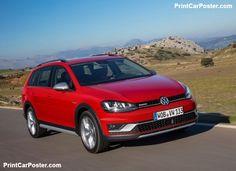 Volkswagen Golf Alltrack 2015 poster, #poster, #mousepad, #tshirt, #printcarposter