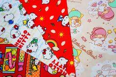 Sanrio Fabric Hello Kitty & Little Twin Stars