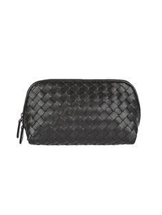 For Makeup on the Go: 10 Cosmetic Cases to Covet: Bottega Veneta Intrecciato Leather Cosmetics Case | Allure.com