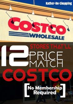 Get a Costco Price Match: All The Stores That'll Price Match Costco Best Money Saving Tips, Ways To Save Money, Money Tips, Saving Money, How To Make Money, Costco Shopping, Shopping Hacks, Costco Prices, Costco Deals